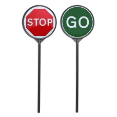 Stop & Go Lollipop Sign 'Stop Go' - Road Works Sign