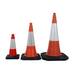 Highwayman Two Part Traffic Cones 500mm, 750mm and 1 Metre