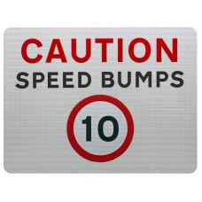 Caution Speed Bumps 10mph Advisory Sign - Wall Mount