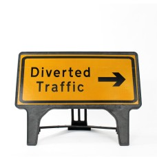 Diverted Traffic Right Sign - Q-Sign