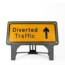 Diverted Traffic Ahead Sign - Q-Sign