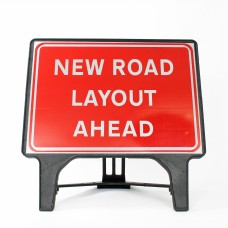 New Road Layout Ahead Sign - Q-Sign