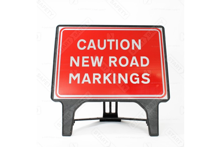 Caution New Road Markings Sign - Q-Sign