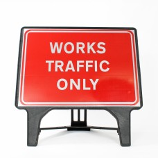 Works Traffic Only Sign - Q-Sign