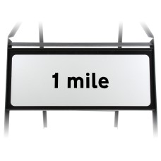 1 mile Supplementary Plate - Metal Sign