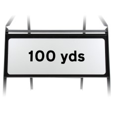 100 Yards Supplementary Plate - Metal Sign