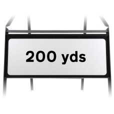 200 Yards Supplementary Plate - Metal Sign
