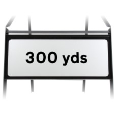 300 Yards Supplementary Plate - Metal Sign
