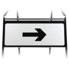 Arrow Right Supplementary Plate - Metal Sign