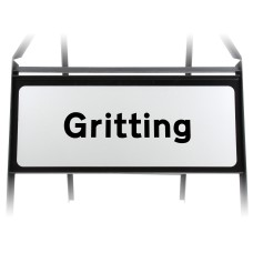 Gritting Supplementary Plate - Metal Sign