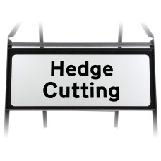 Hedge Cutting Supplementary Plate - Metal Sign