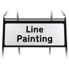Line Painting Supplementary Plate - Metal Sign