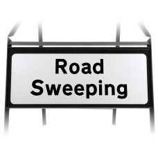 Road Sweeping Supplementary Plate - Metal Sign