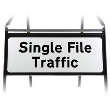 Single File Traffic Supplementary Plate - Metal Sign