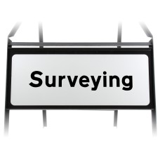 Surveying Supplementary Plate - Metal Sign