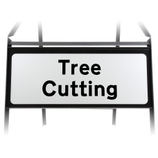 Tree Cutting Supplementary Plate - Metal Sign