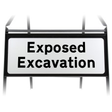 Exposed Excavation Supplementary Plate - Metal Sign