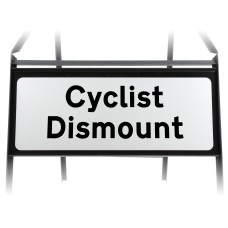 Cyclists Dismount Supplementary Plate - Metal Sign