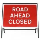Road Ahead Closed Sign - Zintec Metal Sign Dia 7010.1 Face