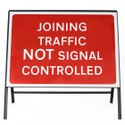 Joining Traffic NOT Signal Controlled Sign - Zintec Metal Sign Dia 7022 Face