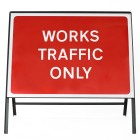 Works Traffic Only Sign - Zintec Metal Sign Dia 7301 Face