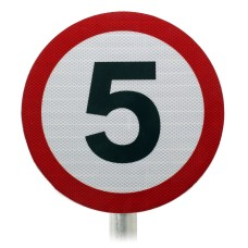 5mph  Speed Limit Sign, Post Mounted Diagram 670 R2/RA2