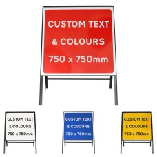 Custom 750x750mm Sign Face  - Metal Road Sign - Face Only