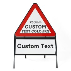 Custom 750mm Triangular Sign Face Inc. Supp - Metal Sign - Face Only