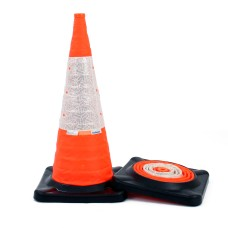 Collapsible Traffic Cones, Road Legal 750mm Retroreflective