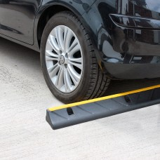 CarStop Car Wheel Stopper 1000mm Rubber Inc. Fixings