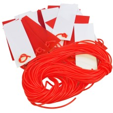Red And White Safety Bunting - Pendant Caution Marker 26m JSP