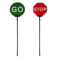 Collapsible Stop Go Lollipop Sign With 600mm Face & Carry Bag