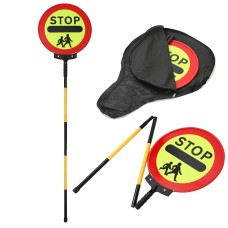 Stop Children Crossing Sign   Lollipop Sign 450mm Collapsible