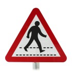 Pedestrian Crossing Ahead Post Mounted Sign - 544 R2/RA2 (Face Only)