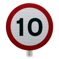 10mph Speed Limit Sign, Post Mounted Diagram 670 R2/RA2