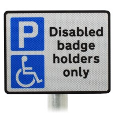 Disabled Badge Holders Only Sign Post Mounted Dia. 661A R2/RA2