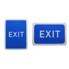 Blue Car Park Exit Sign (Without Arrow) Post Mounted R2/RA2