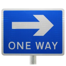 One Way Sign (For Pedestrians) Post Mounted Diagram 810 R2/RA2