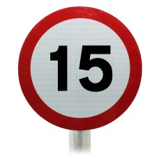 15mph Speed Limit Sign, Post Mounted Diagram 670 R2/RA2