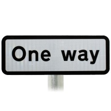 'One Way' Supplementary Sign, Post Mounted Diagram 607 R2/RA2