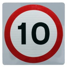 10 mph Speed Limit Sign Wall Mount - Various Sizes