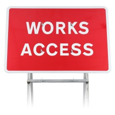 Works Access Sign Diagram 7301 |Quick Fit (face only)