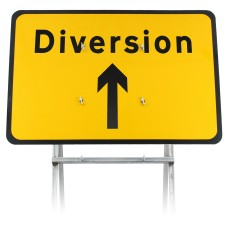 Diversion Ahead Sign Diagram 2702 |Quick Fit (face only)