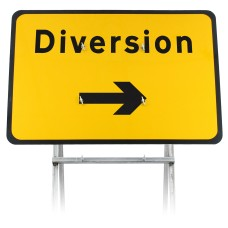 Diversion Right Sign Diagram 2702 |Quick Fit (face only)