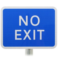 NO EXIT Sign DIA 835 Post Mounted Various Sizes R2/RA2
