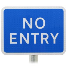 NO ENTRY Sign DIA 836 Post Mounted Various Sizes R2/RA2