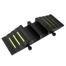 Traffic-Line Dual 75mm Hose Ramp With Reflectors