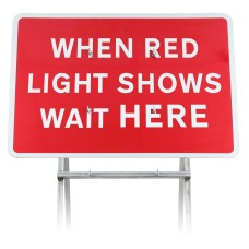 When Red Light Shows Wait Here Sign Diagram 7011 |Quick Fit (face only)
