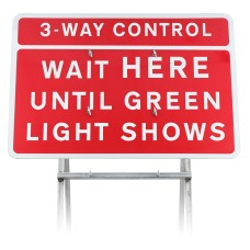 3-Way Control Wait HERE Until Green Light Shows Sign Diagram 7011.1 |Quick Fit (face only)