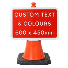 Custom 600x450mm Sign Face  - Cone Sign - Face Only